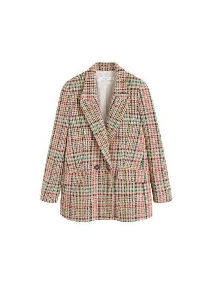 Multicolor check blazer