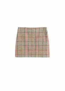 Multicolor check miniskirt