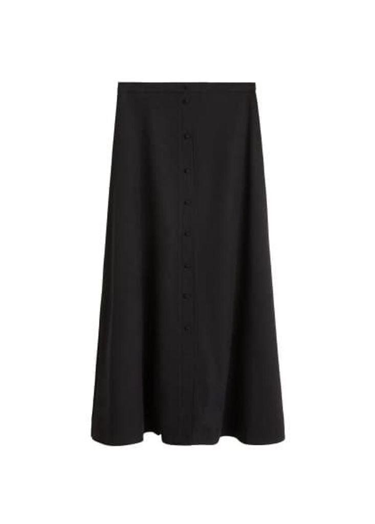 Button long skirt