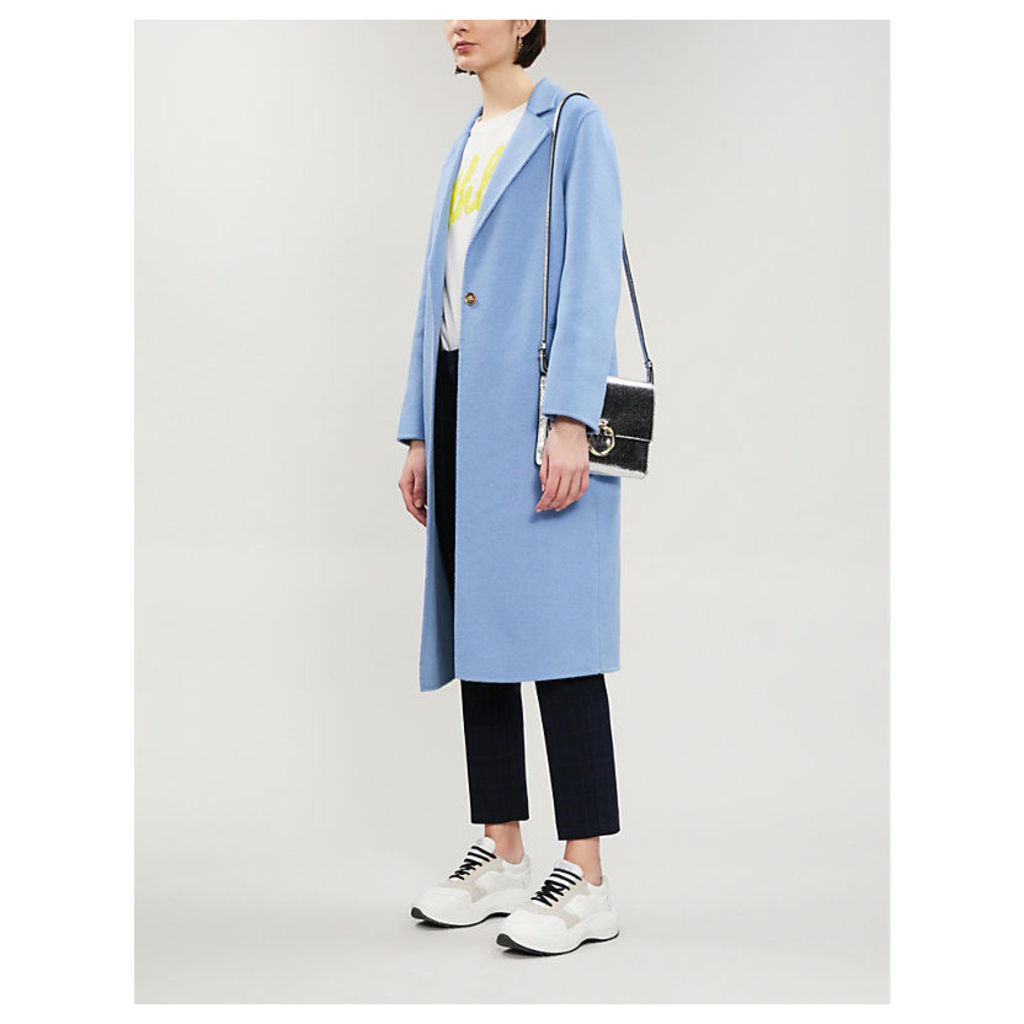 Brushed-wool blend coat