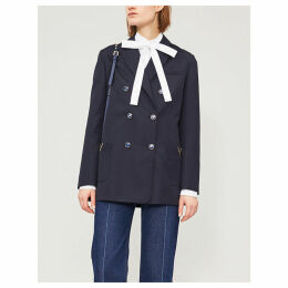 Slim-fit wool blazer