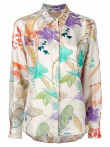 Agnona floral print shirt - Neutrals
