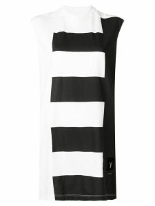 Rick Owens DRKSHDW striped tank top - White