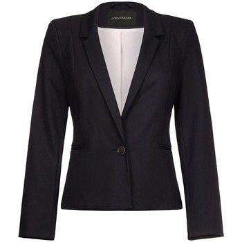 Anastasia  -Black Womens Short One Button Blazer  women's Jacket in Black