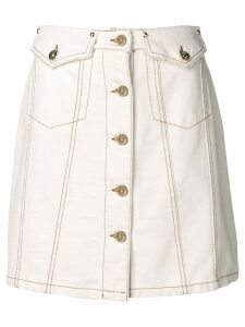 Versace Jeans Couture buttoned A-line skirt - White