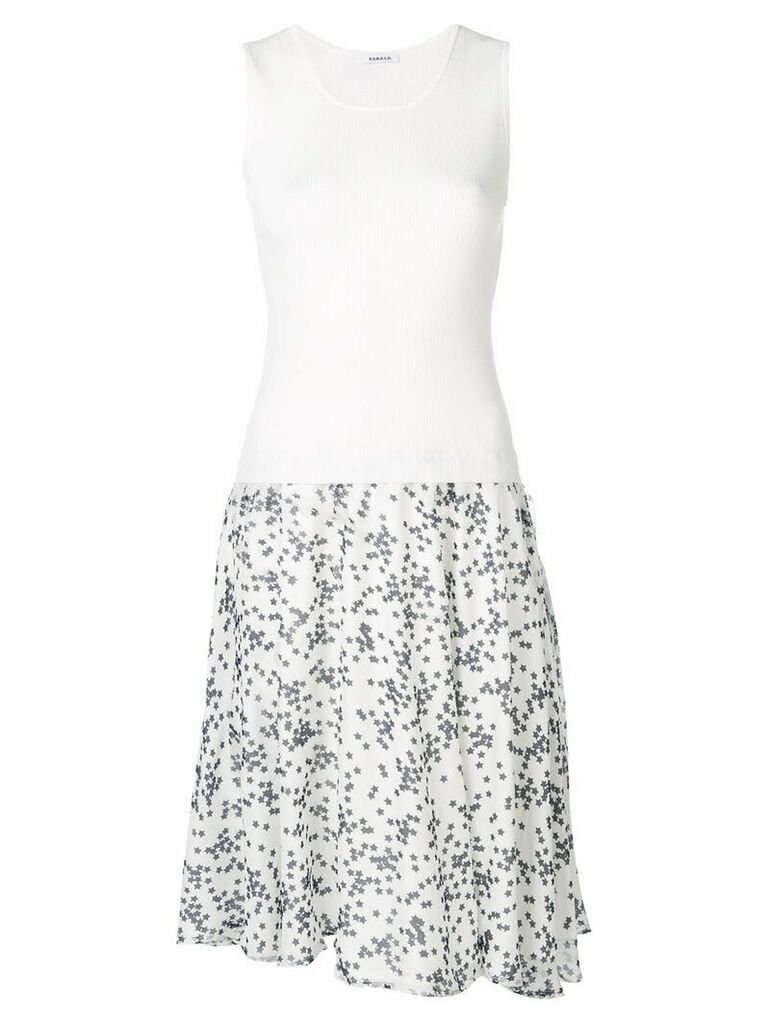P.A.R.O.S.H. star print silk skirt - White