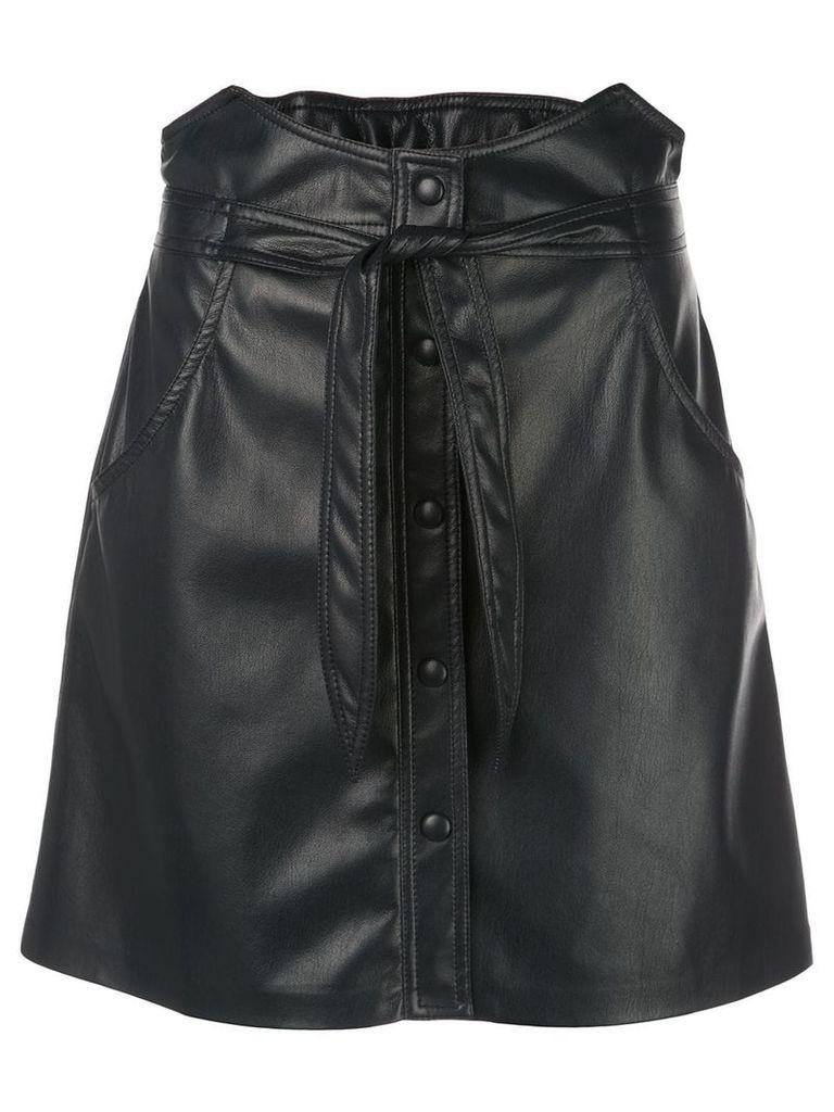 Nanushka Chai faux-leather skirt - Black