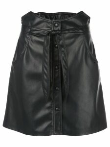 Nanushka Chai faux-leather skirt - Black