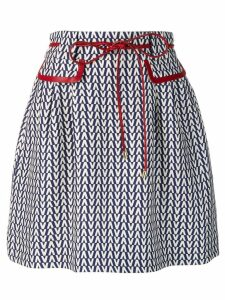 Valentino Optical V skirt - Blue