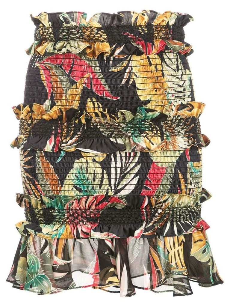 Petersyn Chandler floral skirt - Black