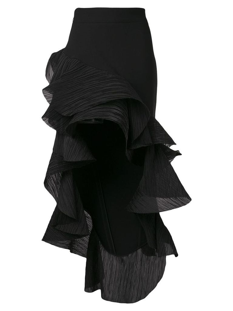 Maticevski ruffled asymmetric skirt - Black