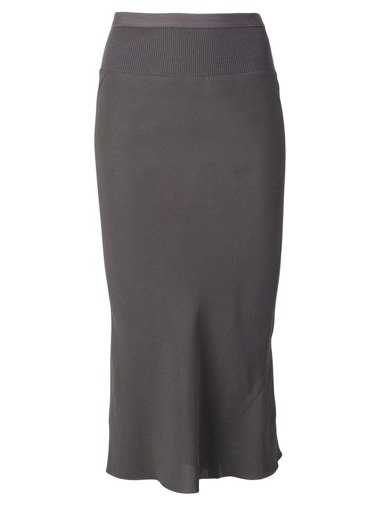 Rick Owens fitted skirt - Grey