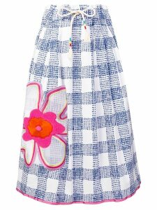 Mira Mikati flower embroidered skirt - Blue