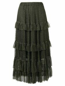 Philosophy Di Lorenzo Serafini tiered ruffled skirt - GOLD