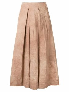 Uma Wang front pleat skirt - Neutrals
