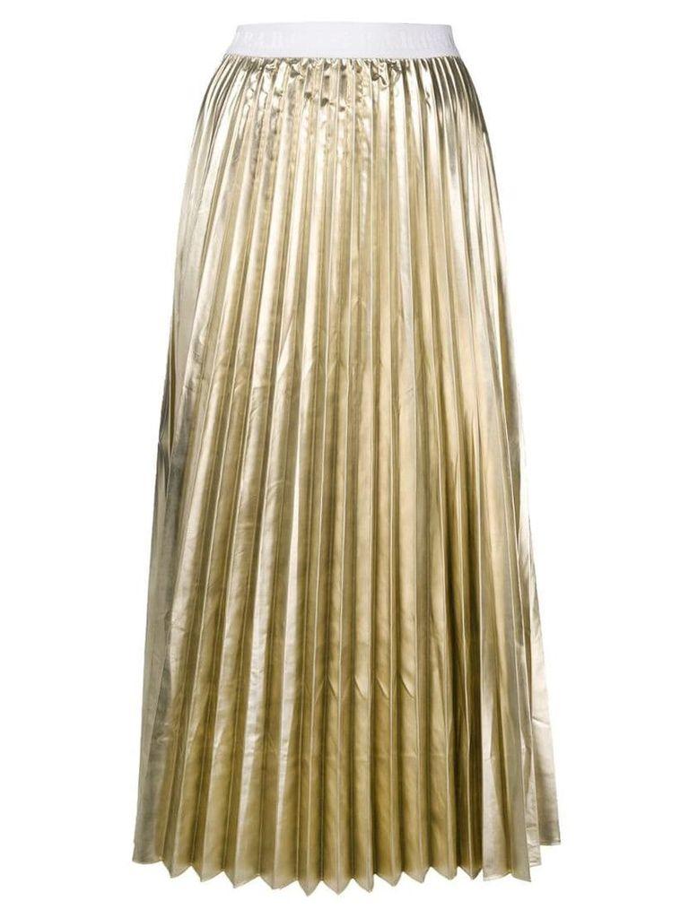 P.A.R.O.S.H. high-waist pleated skirt - Gold