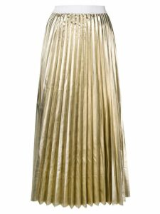 P.A.R.O.S.H. high-waist pleated skirt - Gold