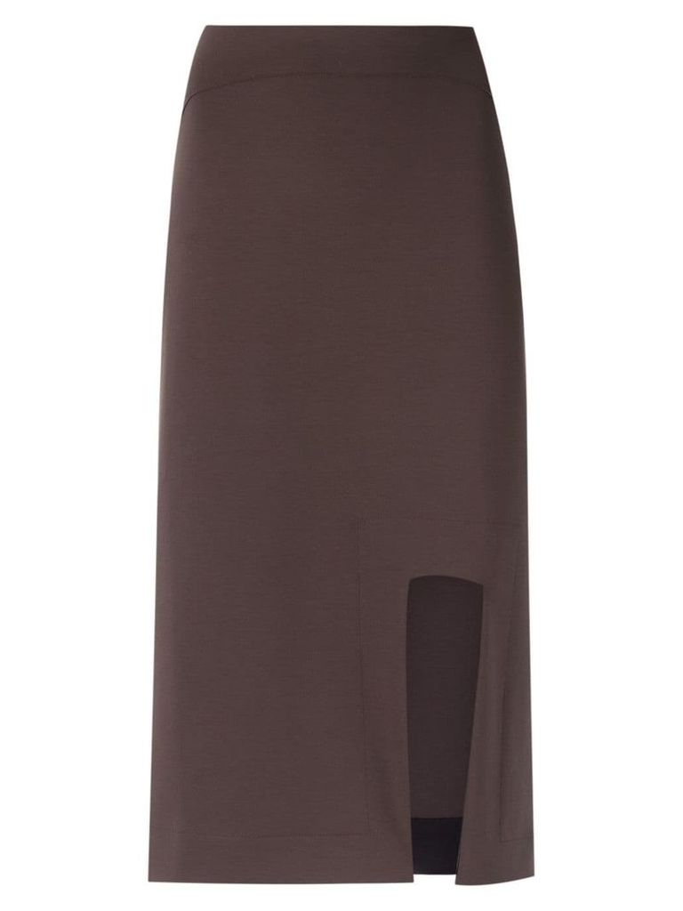 Gloria Coelho asymmetric skirt - Brown