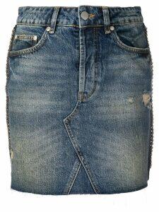 Victoria Victoria Beckham chain trim denim skirt - Blue