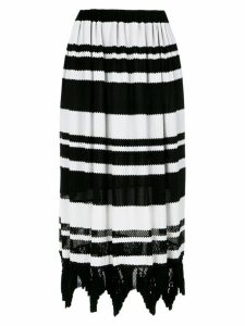 À La Garçonne striped midi knit skirt - Black