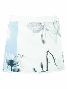 Gloria Coelho print skirt - White