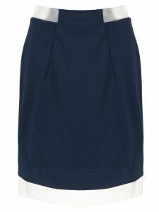 Gloria Coelho sheer panels skirt - Blue