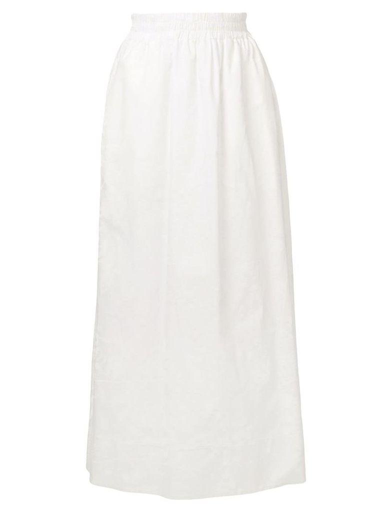 Agnona elastic waistband skirt - White
