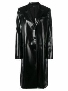 Jil Sander Navy buttoned rain coat - Black