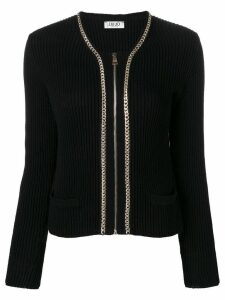 Liu Jo zip front cardigan - Black