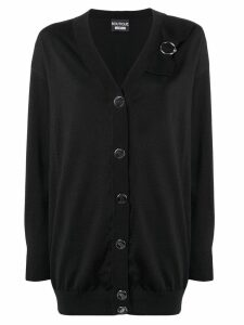 Boutique Moschino loose-fitting cardigan - Black
