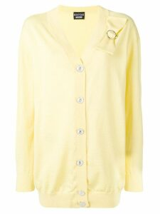 Boutique Moschino bow detail cardigan - Yellow