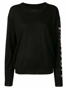 Zadig & Voltaire round neck sweater - Black