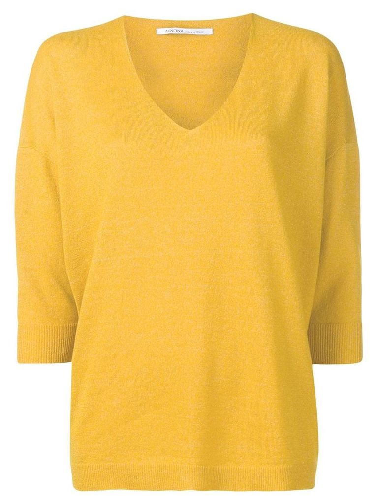 Agnona classic knit sweater - Yellow