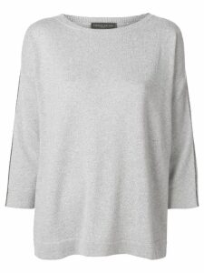 Fabiana Filippi cropped sleeves jumper - Grey