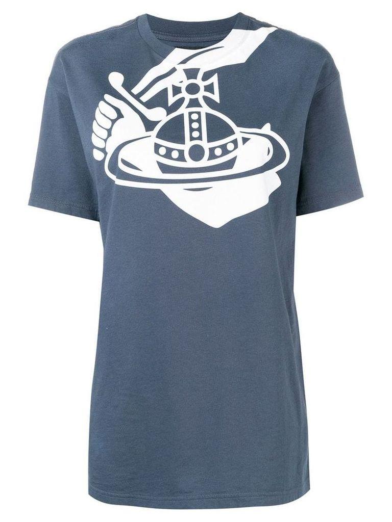 Vivienne Westwood Anglomania logo print T-shirt - Blue
