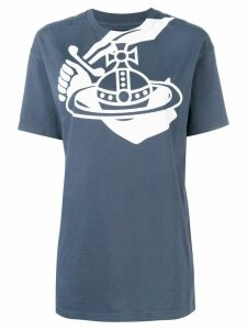 Vivienne Westwood Anglomania logo print T-shirt - Blue