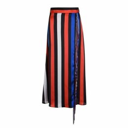 MSGM Stripe Fringe Skirt