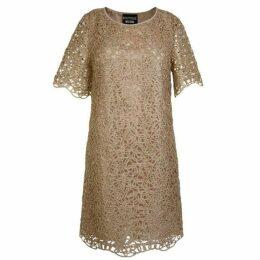 Boutique Moschino Metallic Cut Out Dress