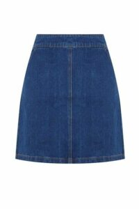 Womens Warehouse Blue Denim A-Line Skirt -  Blue