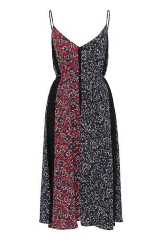 Womens French Connection Red Floral Lace Mix Dress -  Red
