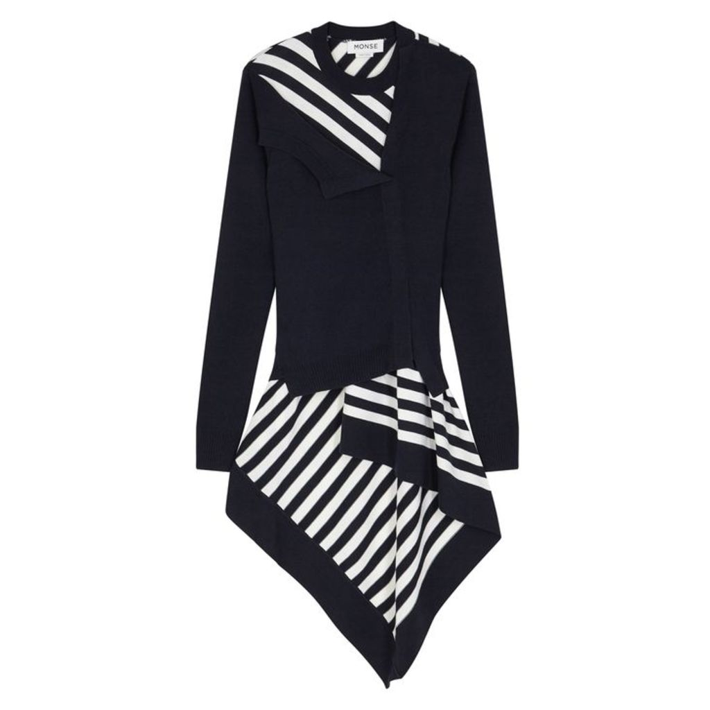 MONSE Navy Striped Wool Jumper
