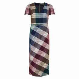 Roland Mouret Chaney Checked Cotton-blend Dress