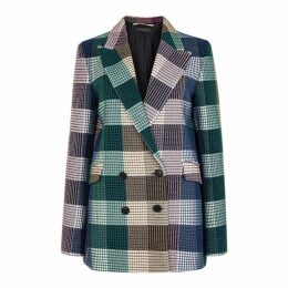 Roland Mouret Harleston Checked Double-breasted Blazer