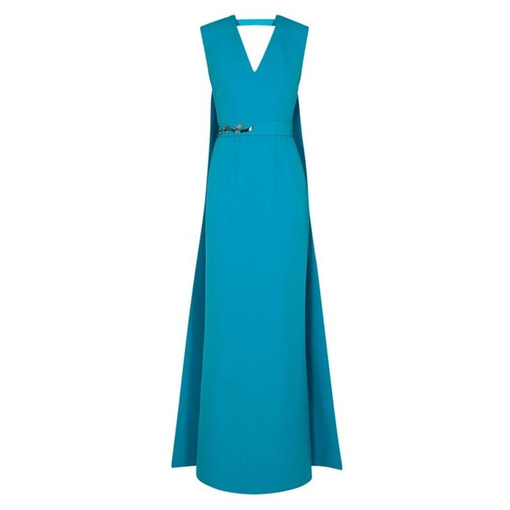 Safiyaa Zahara Blue Sequin-embellished Gown