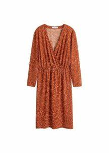 Wrap neckline dress