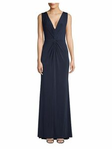 Twist Plunging Trumpet Gown