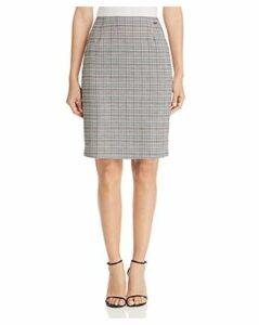 T Tahari Plaid Pencil Skirt