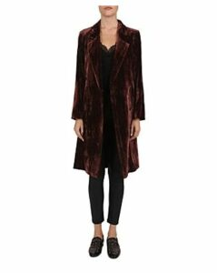 The Kooples Crinkled Velvet Coat