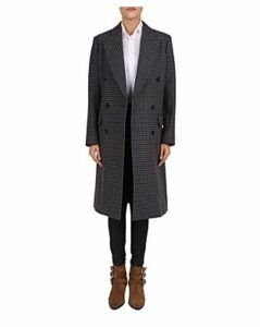 The Kooples Cappotto Double-Breasted Check-Print Coat