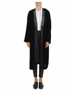 The Kooples Heart-Pin Velvet Kimono